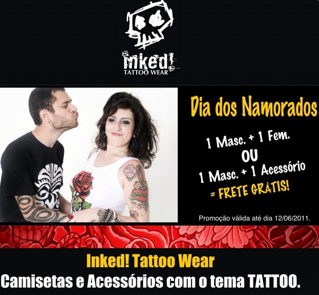 exemplo de email Mkt de Dia dos Namorados da Inked Tattoo Wear