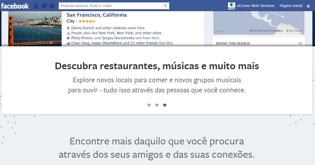 Busca Social no Facebook
