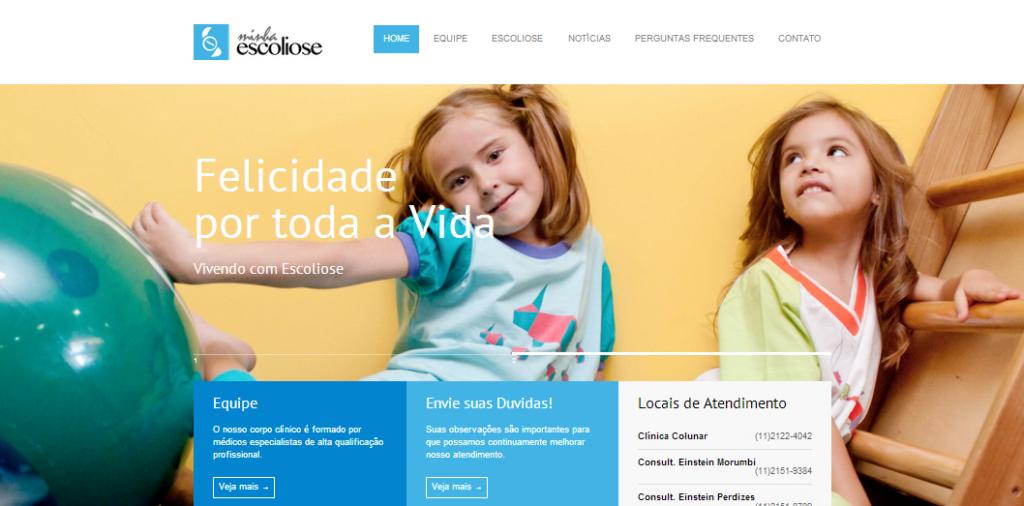 Website Minha Escoliose