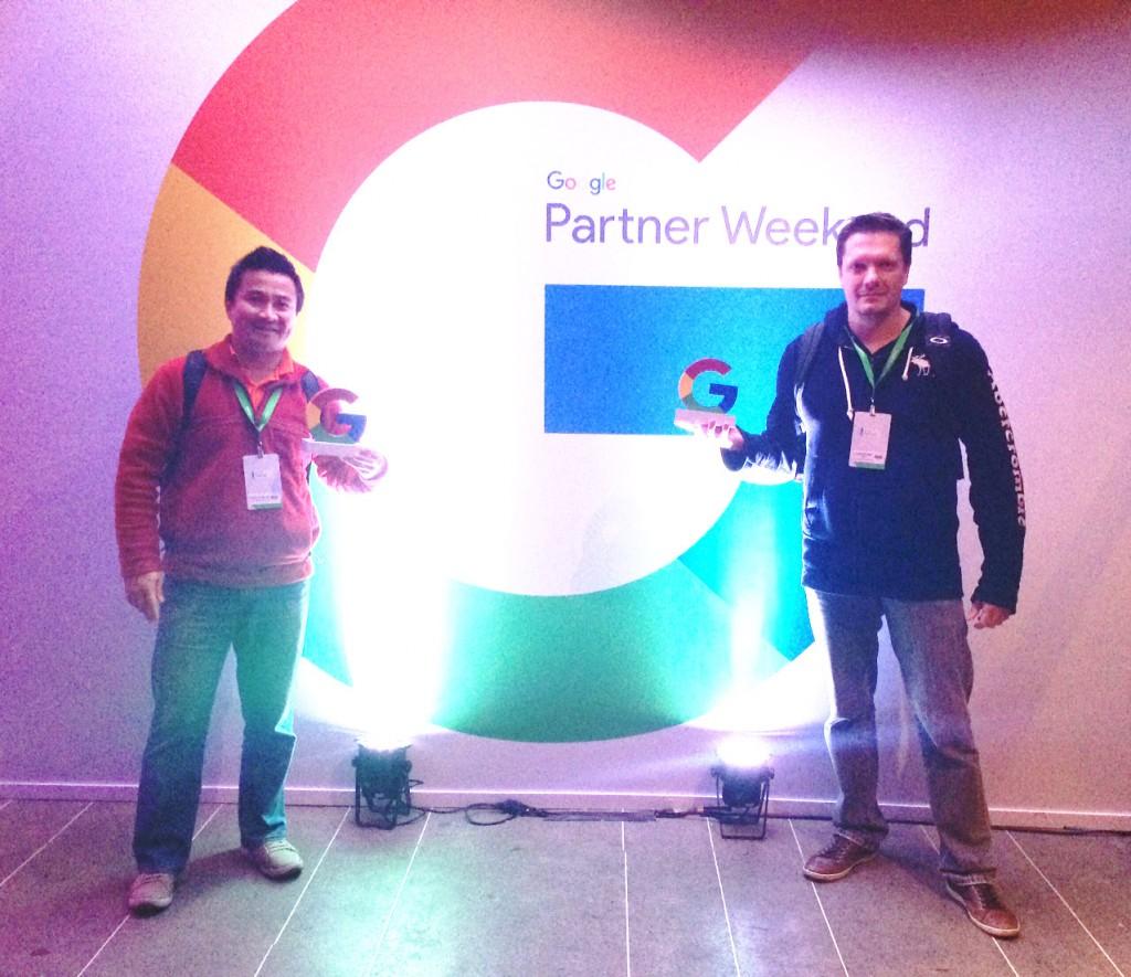 Marco Wu e Christian Emil Hoh representando a eComm no evento.