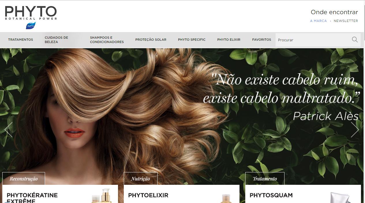 Phyto é uma empresa de cosméticos da França que trouxe os seus produtos para o Brasil.
