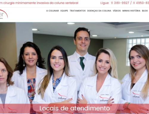 Conheça o novo site da clínica Colunar, desenvolvido pela eComm